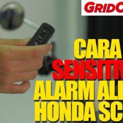 Cara Setting Alarm Grand New Avanza Beda Dengan Veloz Video Mengatur Sensivitas All Honda Scoopy Cekidot Sensitivitas
