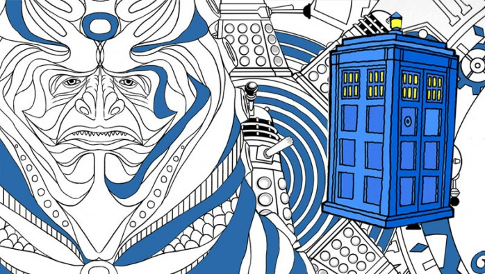 Jordan Coloring Page Doctor Who Colouring Book