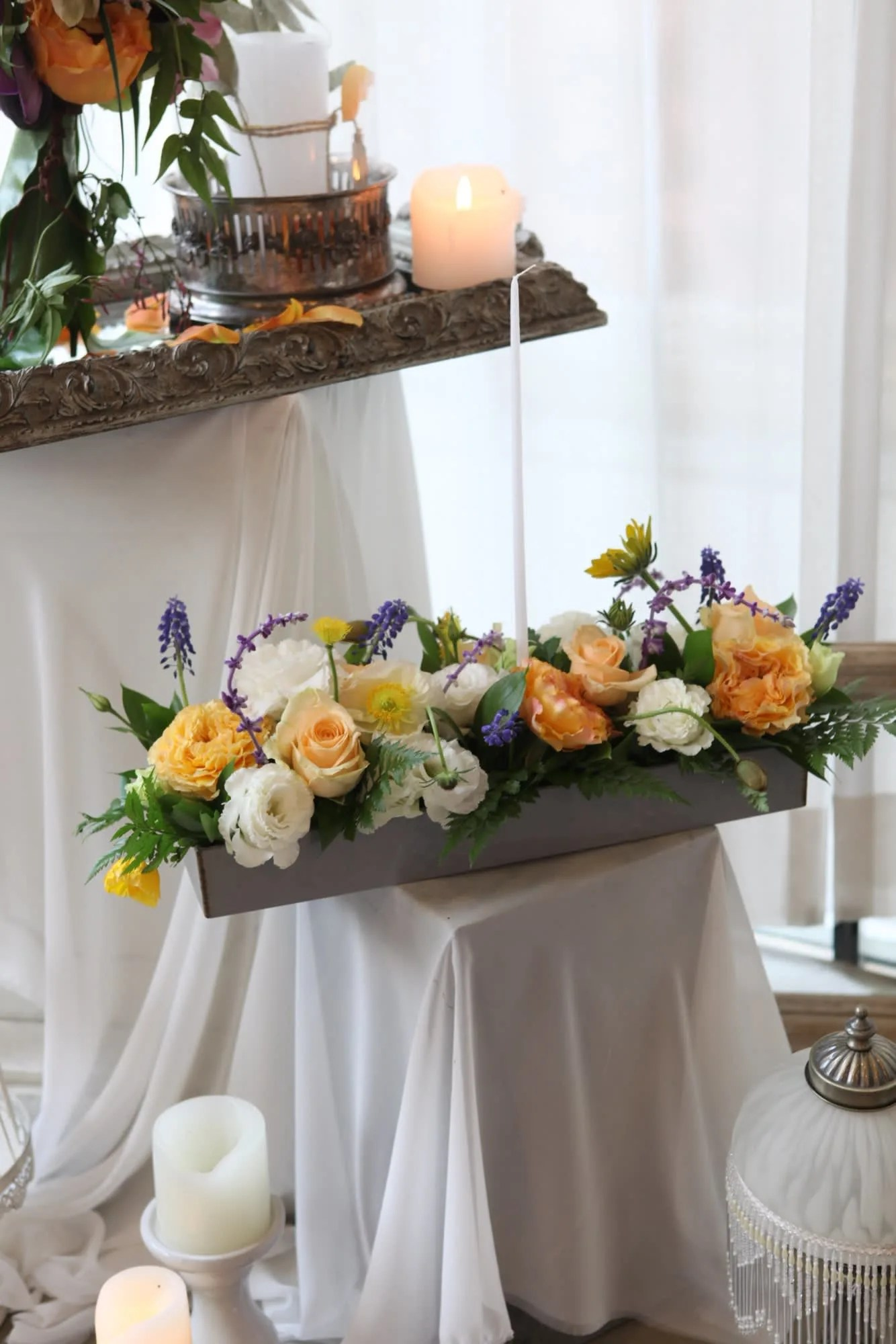 long and low centerpiece in pasadena ca aaliyah s vase