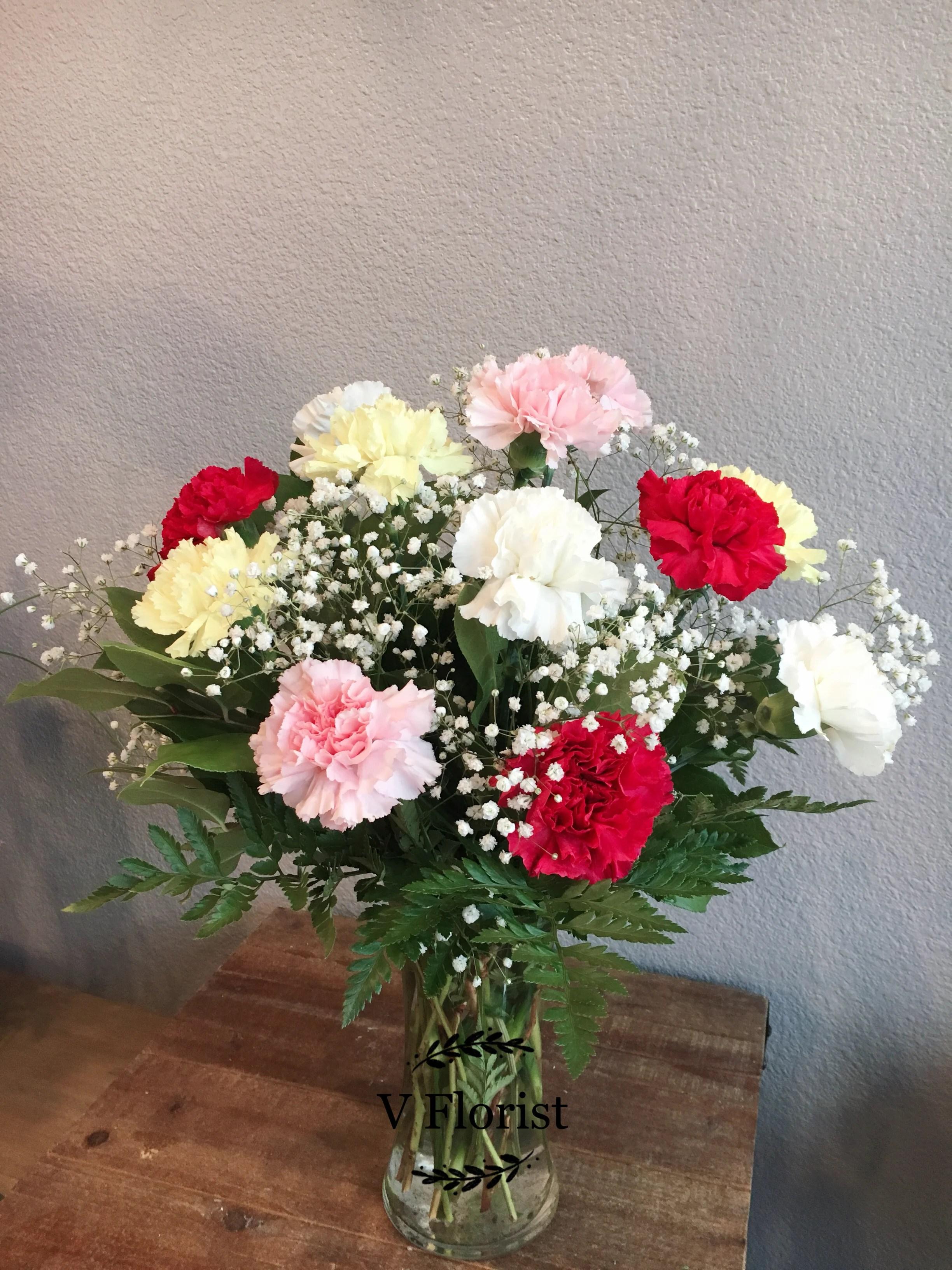 Pics Of Carnations : carnations, Assorted, Carnations, Arrangement, Vegas,, Florist