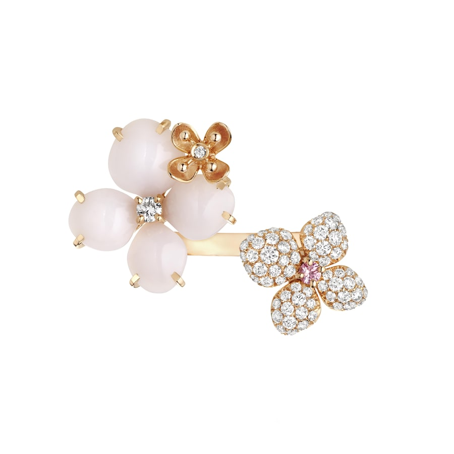 Hortensia Aube Rosée ring - Pink Gold - Chaumet