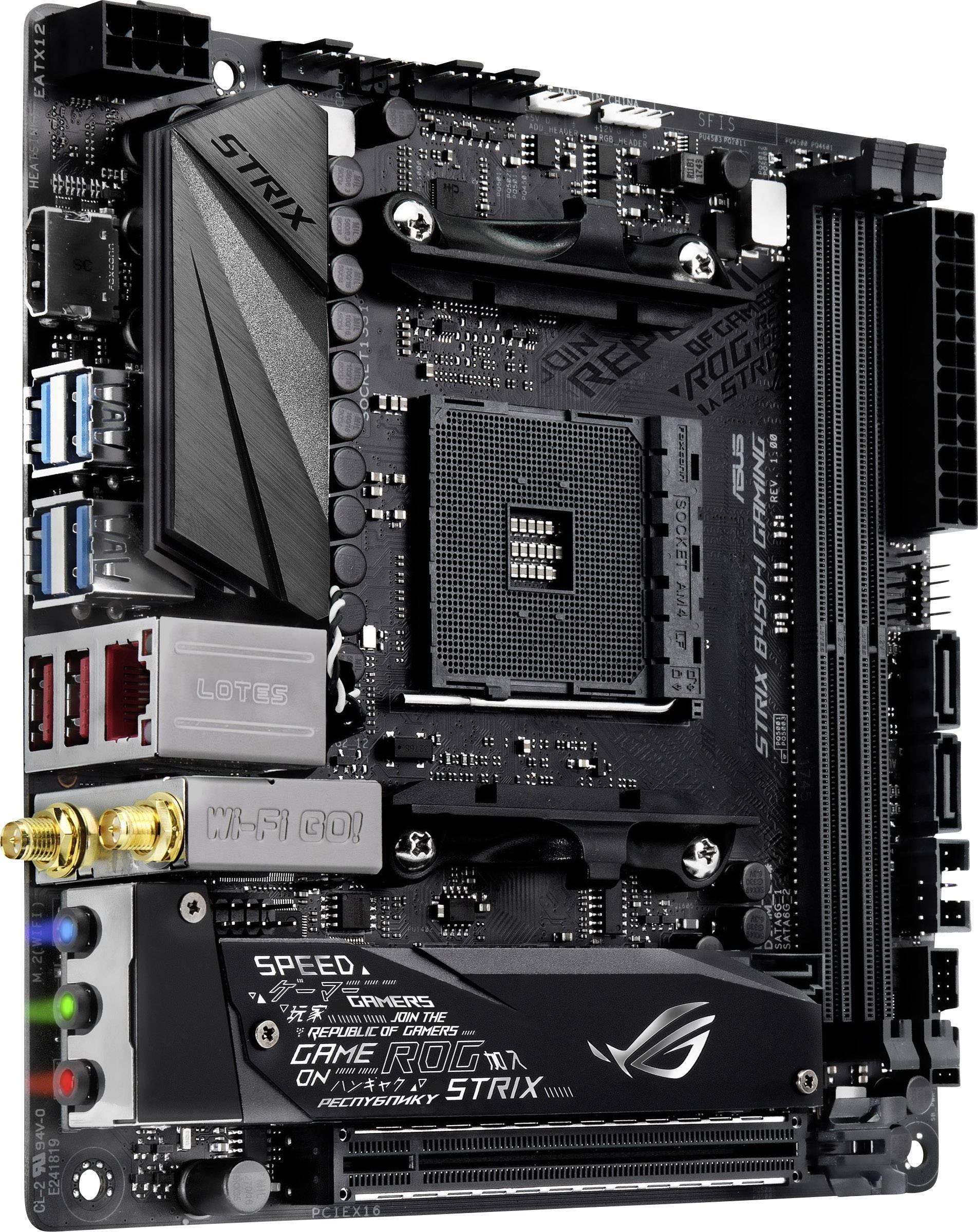 Asus ROG Strix B450-I Gaming Základní deska Socket AMD AM4 Tvarový faktor Mini-ITX Čipová sada základní desky AMD® B450 | Conrad.cz