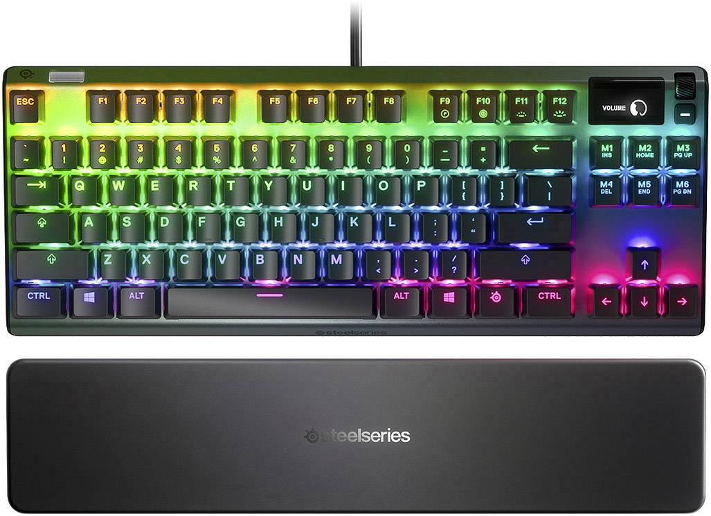 steelseries apex pro tkl usb gaming tastatur deutsch qwertz windows schwarz beleuchtet handballenauflage usb anschl