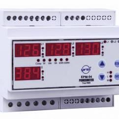 3 Phasen Strom Ceiling Fan Wiring Diagram Single Switch Entes Epm 04 Din Programmierbares Schienen Ac Multimeter Spannung