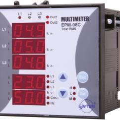 3 Phasen Strom 1978 Ford F150 Ignition Switch Wiring Diagram Entes Epm 06c 96 Programmierbares Einbau Ac Multimeter