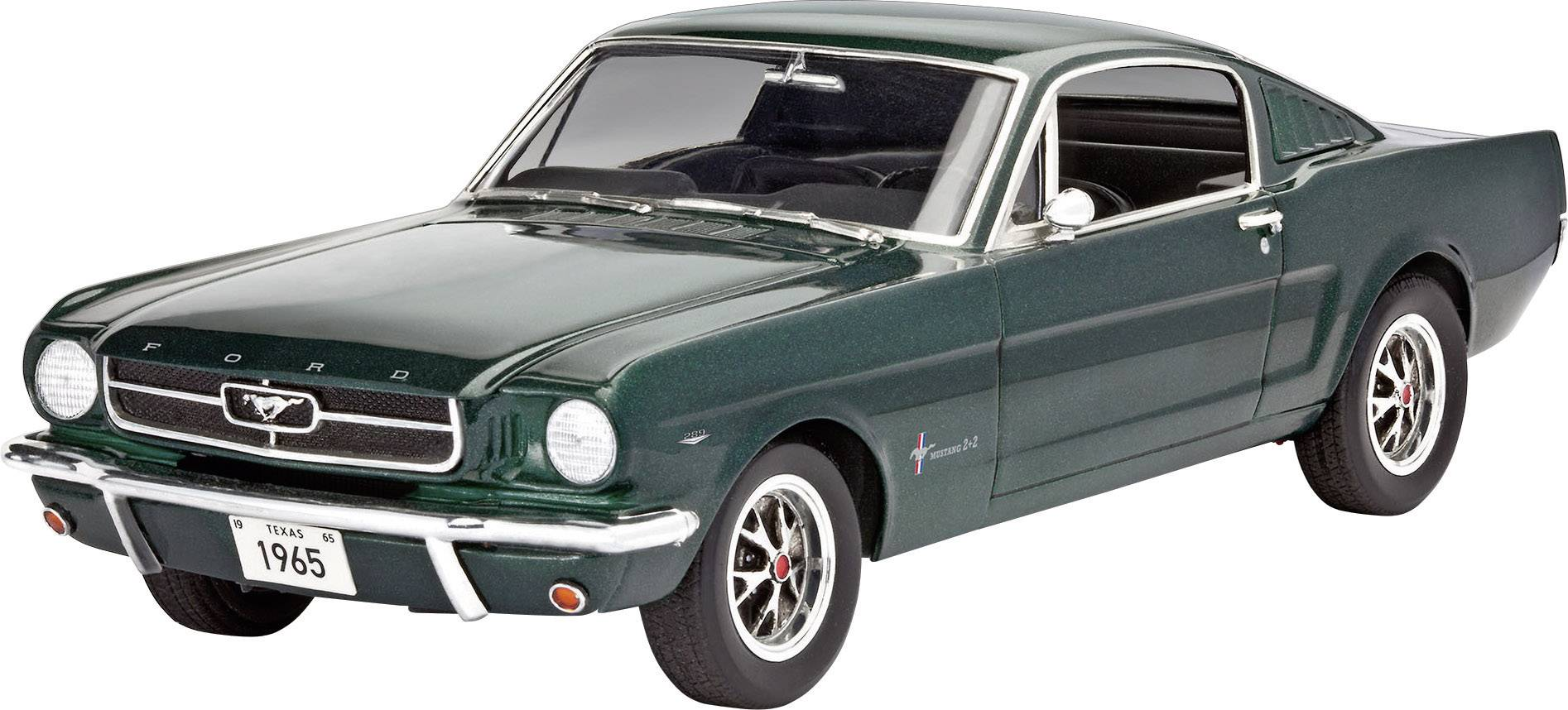 O ne of the most influential cars in the world made its debut in april 1964, with the arrival of the ford mustang. Revell 07065 1965 Ford Mustang 2 2 Fastback Car Model Assembly Kit 1 24 Conrad Com