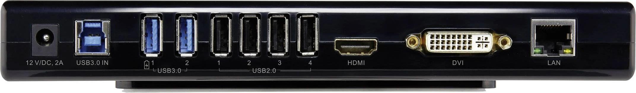 hight resolution of renkforcelaptop docking stationuniversal 2x usb 3 0 4x usb 2 0 1x hdmi headphones