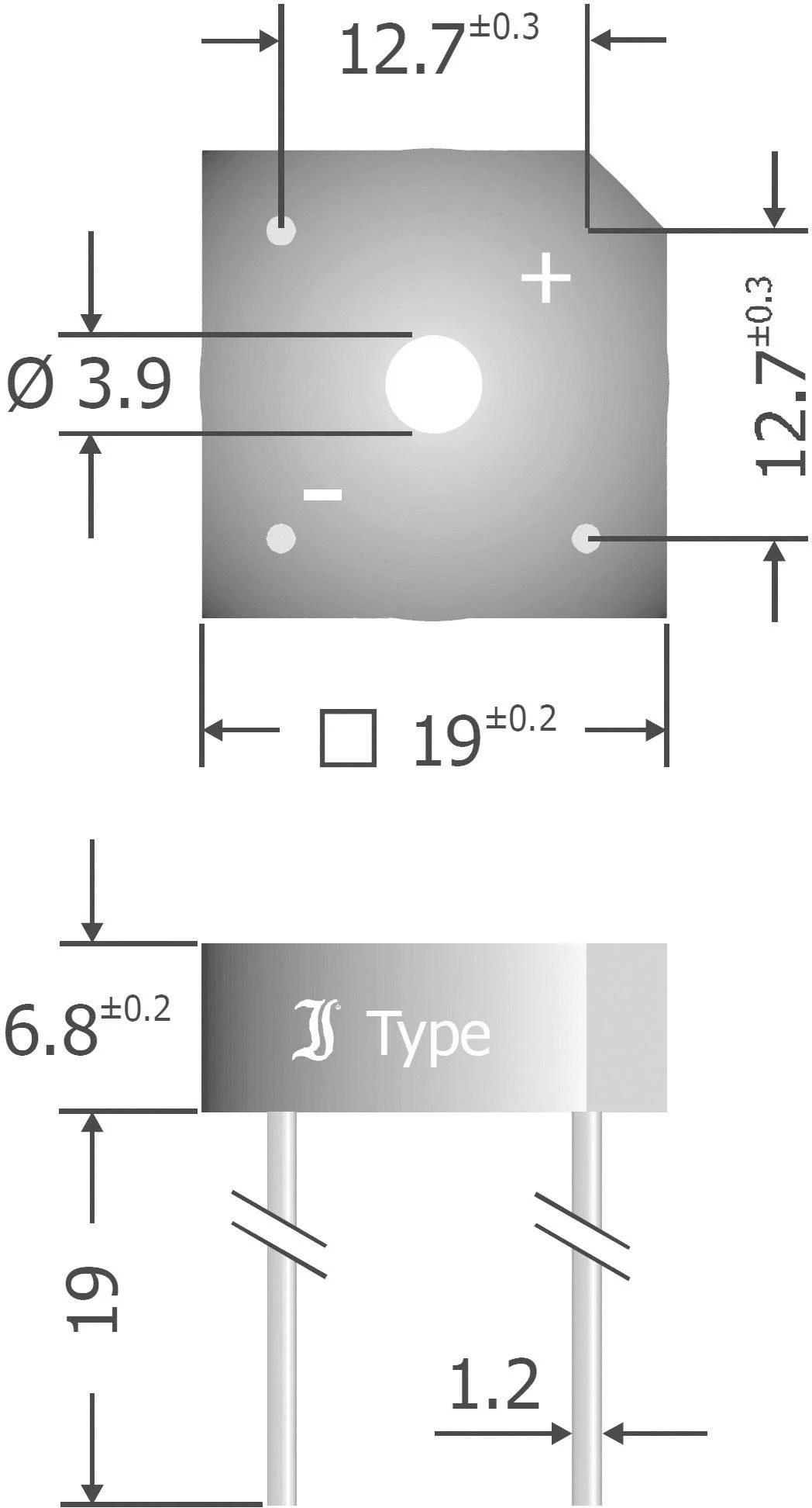 diotec kbpc808 diode bridge kbpc 800 v 8 a 1 phase [ 1000 x 1000 Pixel ]