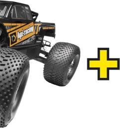 hpi racing savage xl octane 1 8xl rc model car petrol monster truck 4wd rtr [ 2432 x 944 Pixel ]