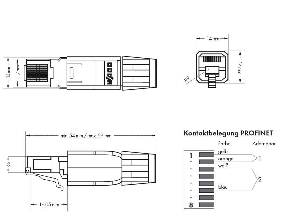 plc connector wago 750 976 profinet rj 45  [ 1000 x 1000 Pixel ]