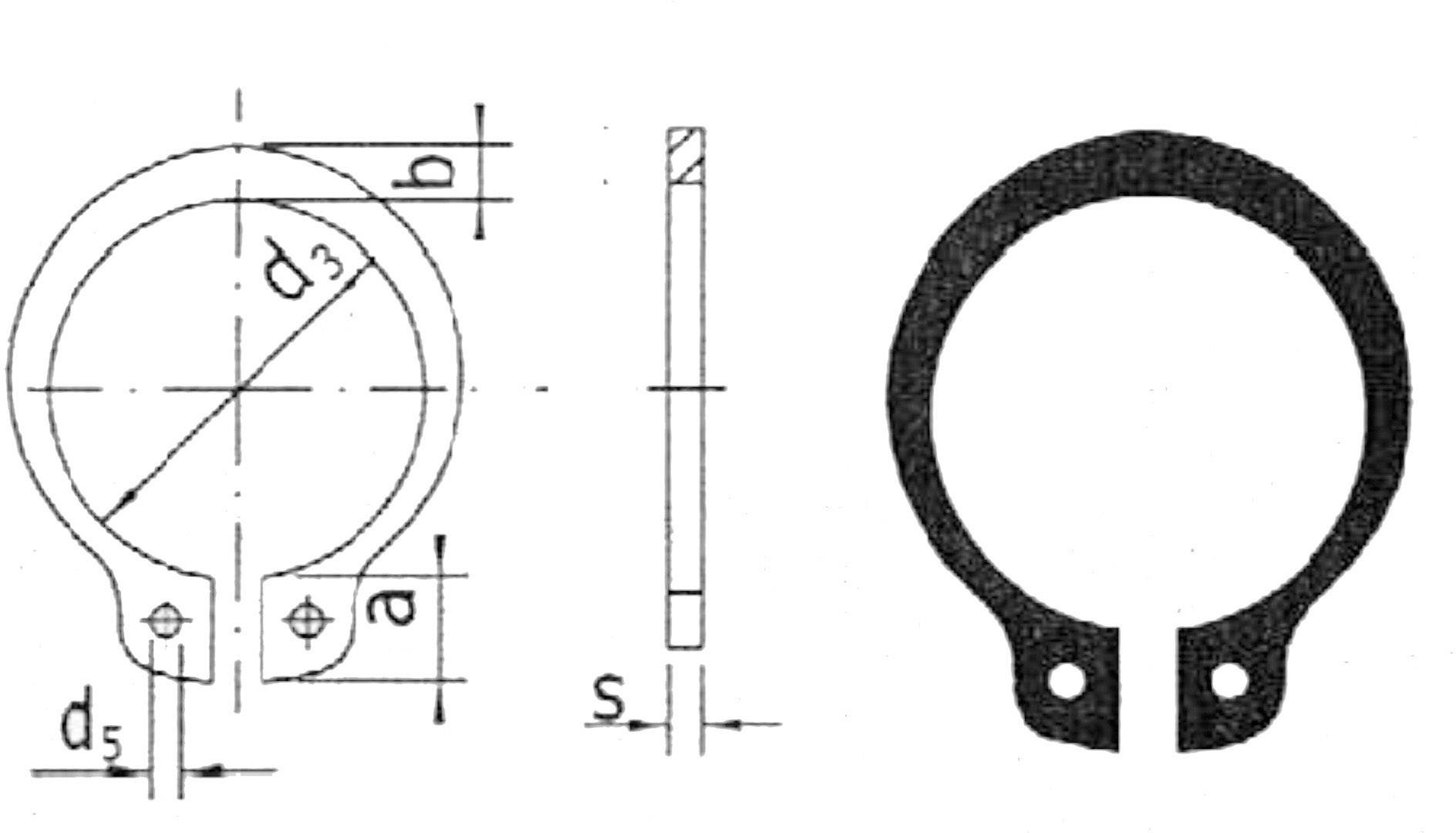 Shaft Retaining Ring Reely Suitable For Shaft Diameter 10 Mm 20 Pc S