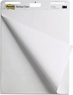 Post it flip chart paper roll meeting charts no of sheets blank cm  white also rh conrad electronic