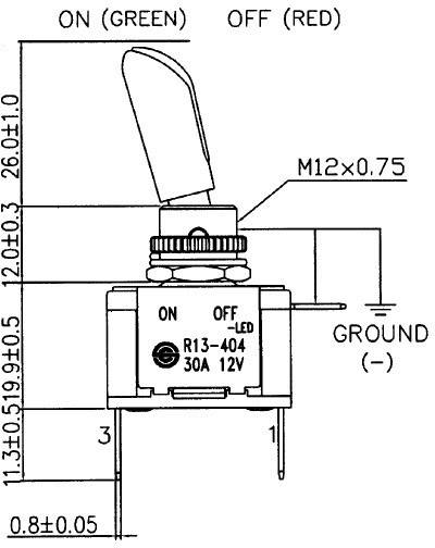 hight resolution of sci r13 404al2 toggle switch 12 vdc 30 a 1 x off on latch