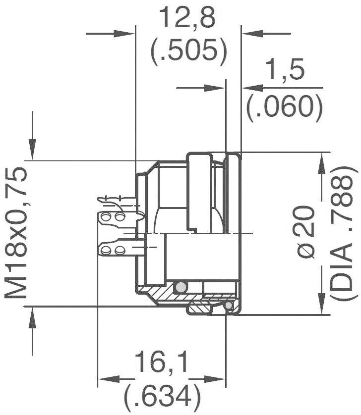 amphenol c091 31n008 100 2 circular connector nominal current details 5 a number of pins 8 din [ 1000 x 1000 Pixel ]