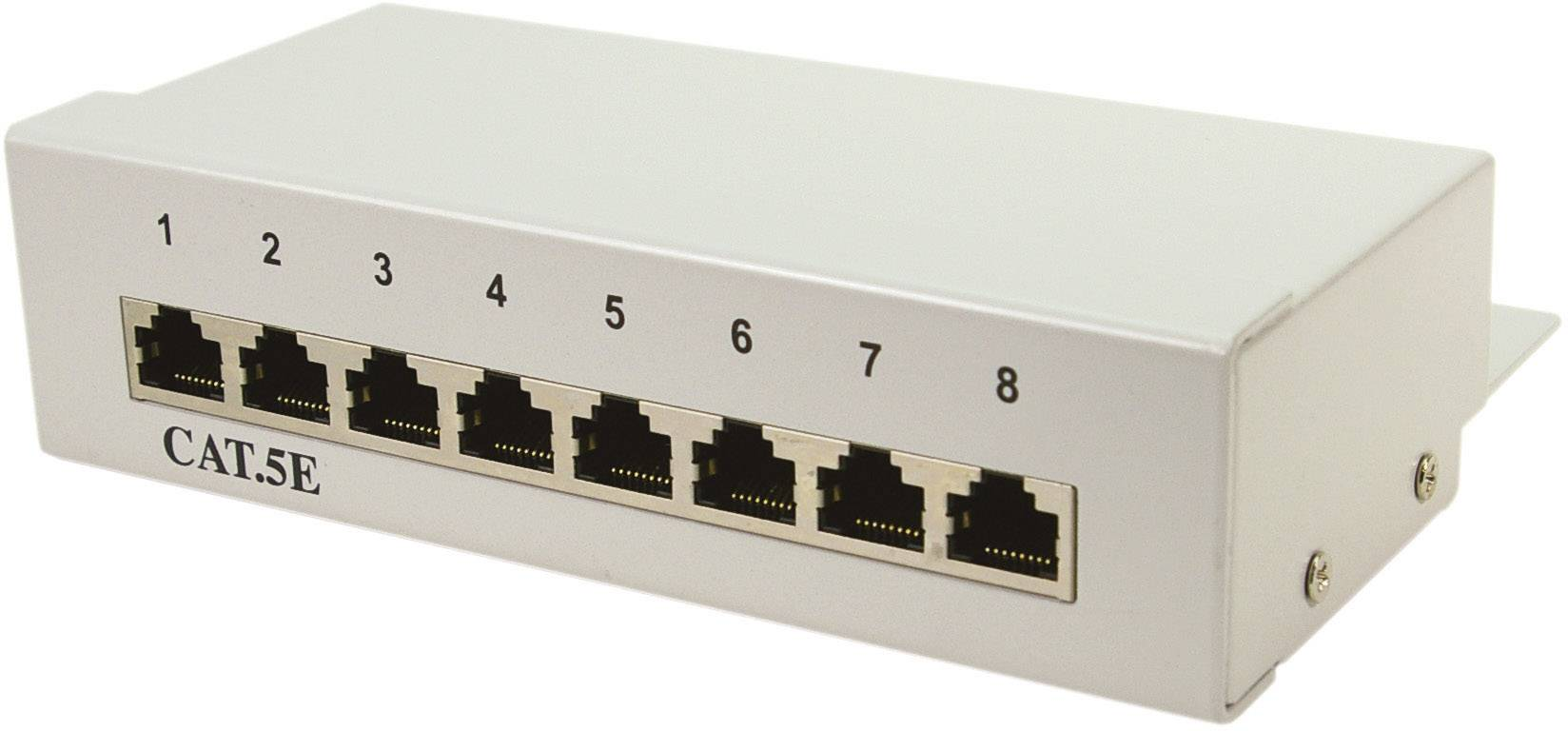 logilink np0038 8 ports network patch box cat 5e [ 1000 x 1000 Pixel ]