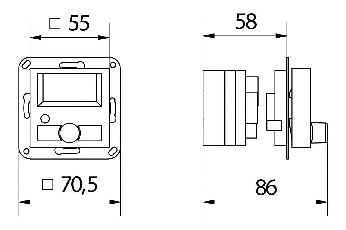 WHD KEL 55 DAB+ Radio Set Onderbouwradio DAB+, FM AUX Wit