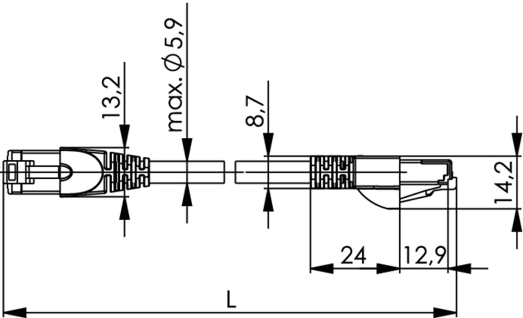 Telegartner L A Lan Kabel 1 Szt