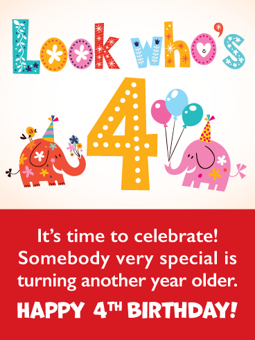 Happy 4th Birthday Nephew : happy, birthday, nephew, Elephants, Happy, Birthday, Greeting, Cards, Davia