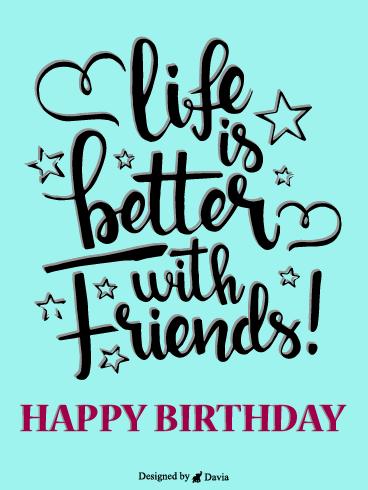 123 Birthday Greetings For Friend : birthday, greetings, friend, Birthday, Cards, Friends, Greeting, Davia, ECards