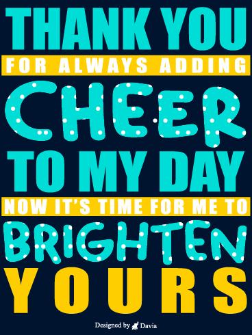 Cheer Up Ecards : cheer, ecards, Cheer, Cards, Birthday, Greeting, Davia, ECards