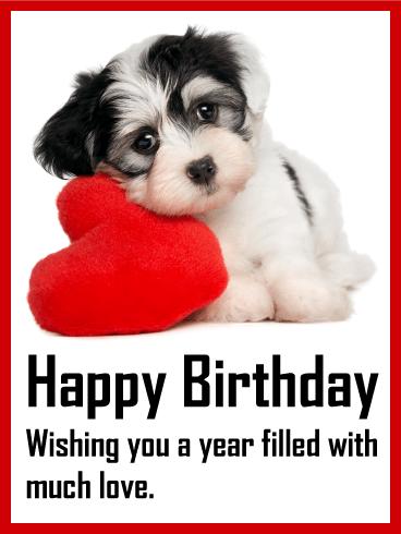 Happy Birthday Dog Lover : happy, birthday, lover, Loving, Puppy, Birthday, Greeting, Cards, Davia