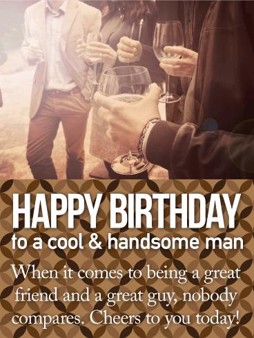 Happy Birthday Guy Friend Images : happy, birthday, friend, images, Handsome, Happy, Birthday, Greeting, Cards, Davia