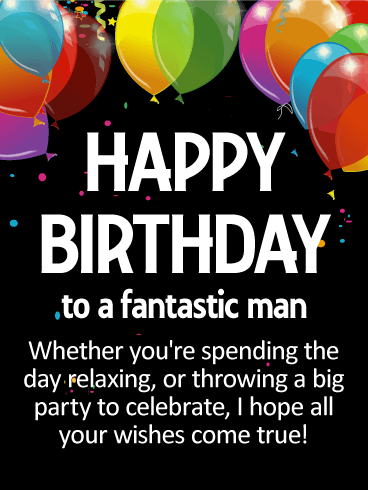 birthday wishes for him
