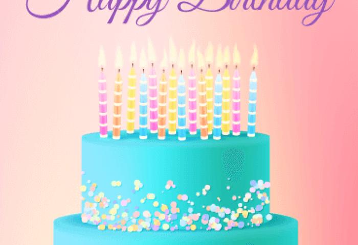 Chic Birthday Cake Card Birthday Greeting Cards By Davia