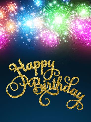Festive Balloons Happy Birthday Card Birthday & Greeting