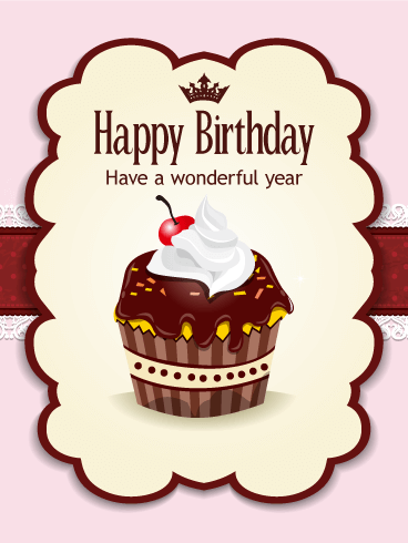 Chocolate Cupcake Birthday Card Birthday & Greeting