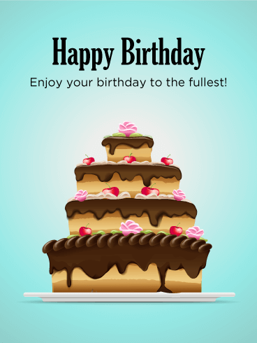 Yummy! Birthday Cake Card Birthday & Greeting Cards By Davia