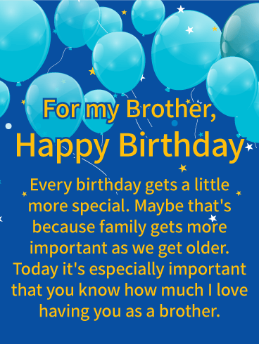 Brother Birthday Image : brother, birthday, image, Having, Happy, Birthday, Wishes, Brother, Greeting, Cards, Davia