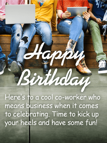 Funny Birthday Quotes For Coworker : funny, birthday, quotes, coworker, Co-Worker, Happy, Birthday, Wishes, Greeting, Cards, Davia