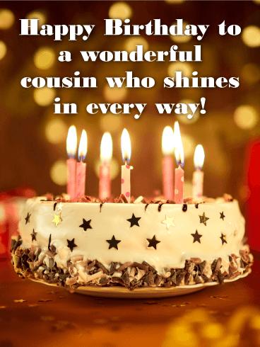 Happy Birthday Cousin Sister : happy, birthday, cousin, sister, Wonderful, Cousin, Happy, Birthday, Greeting, Cards, Davia