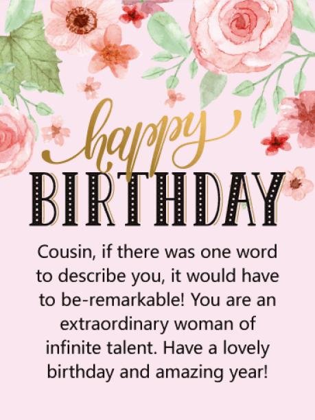Happy Birthday Cousin Female Images