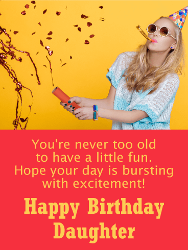 Happy Birthday Funny Girl Images : happy, birthday, funny, images, Party, Girl!, Funny, Birthday, Daughter, Greeting, Cards, Davia