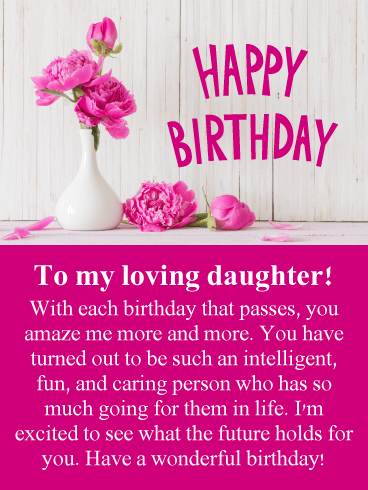 Pretty Pink Roses Happy Birthday Card For Daughter Birthday Amp Greeting Cards By Davia