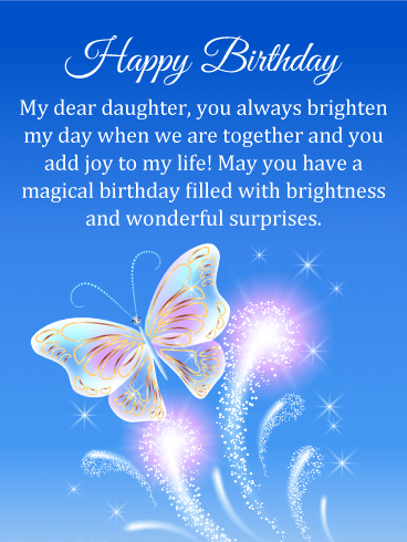 Happy 29th Birthday Daughter : happy, birthday, daughter, Magical, Butterfly, Happy, Birthday, Daughter, Greeting, Cards, Davia