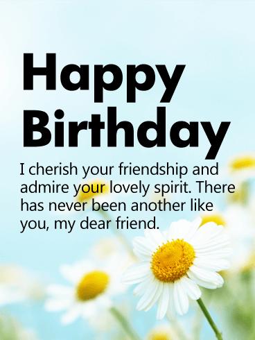 i cherish your friendship