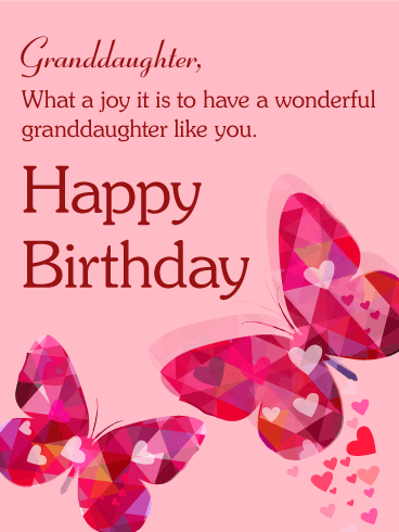 Free Birthday Cards For Facebook : birthday, cards, facebook, Butterfly, Happy, Birthday, Granddaughter, Greeting, Cards, Davia