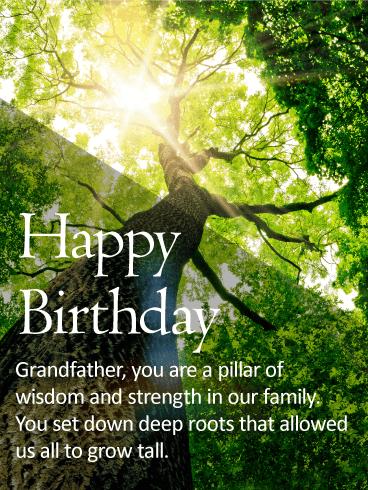 To An Amazing Grandpa Happy Birthday Wishes Card