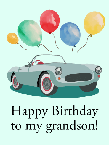 123 Birthday Greetings For Son : birthday, greetings, Happy, Birthday, Grandson, Greeting, Cards, Davia