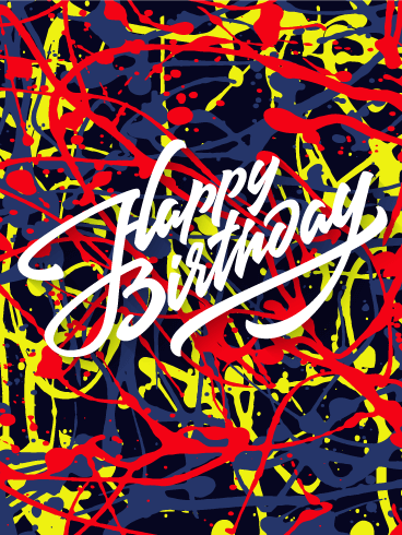 Happy Birthday Artist Meme : happy, birthday, artist, Funky, Artwork, Happy, Birthday, Greeting, Cards, Davia