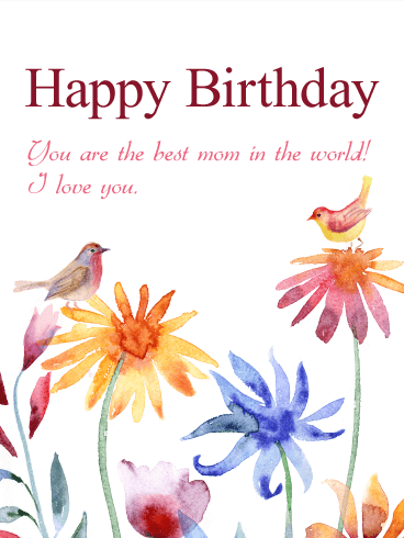 For My Fabulous Mom Happy Birthday Card Birthday