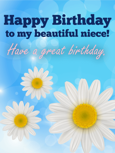 Happy Birthday Beautiful Niece Images : happy, birthday, beautiful, niece, images, Beautiful, Niece!, Happy, Birthday, Greeting, Cards, Davia