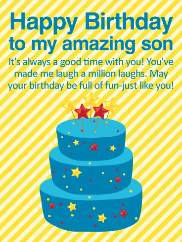 Happy Birthday To My Son Images : happy, birthday, images, Always, Happy, Birthday, Wishes, Greeting, Cards, Davia
