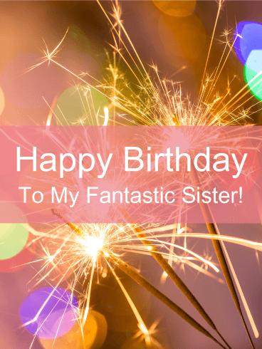 Glitter Happy Bday Sister : glitter, happy, sister, Sparkle, Birthday, Cards, Sister, Greeting, Davia, ECards