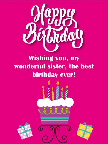 To My Fabulous Sister Birthday Balloon Card Birthday