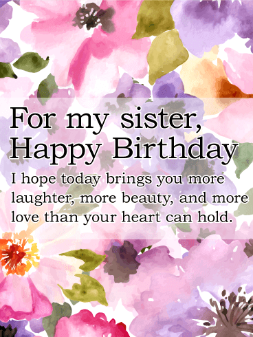 To My Fabulous Sister Birthday Balloon Card Birthday