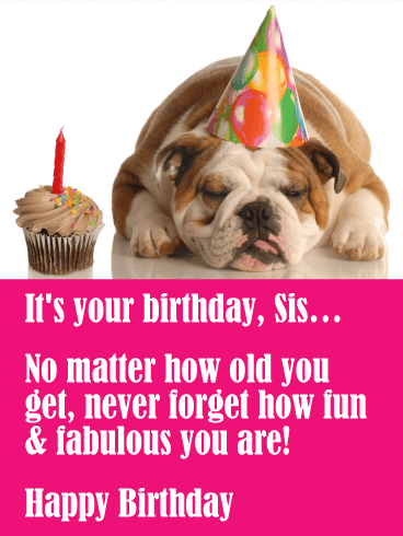 Happy Birthday Sister Images Funny : happy, birthday, sister, images, funny, Funny, Birthday, Cards, Sister, Greeting, Davia, ECards